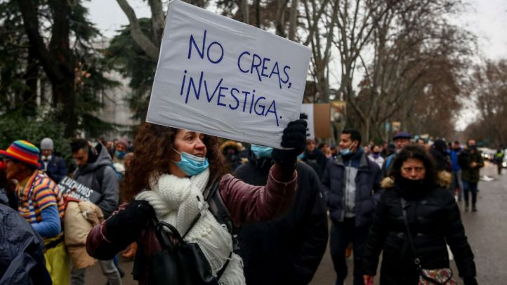 Sanidad desaconsejó la marcha negacionista: 'No había posibilidad de control'
