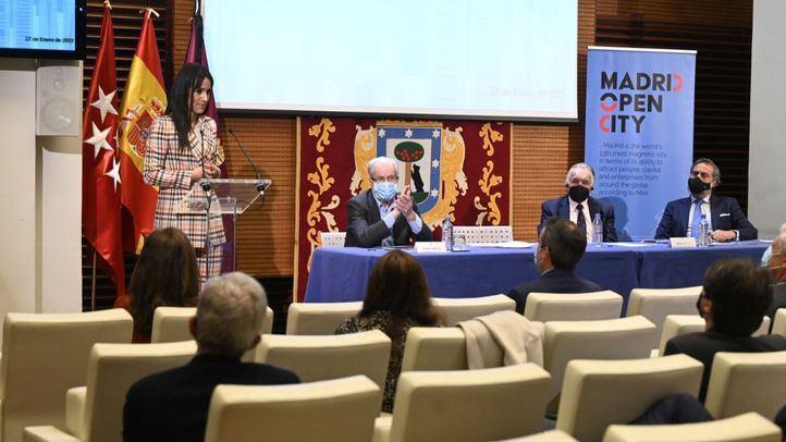 La vicealcaldesa de Madrid, Begoña Villacís, participa en la presentación de la plataforma Madrid Open City.