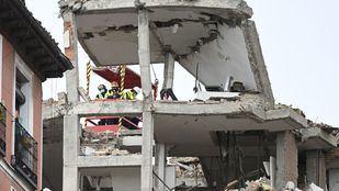 Los técnicos demolerán hasta la quinta planta del edificio que explotó en la calle Toledo