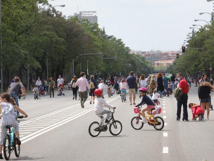 Vuelven las peatonalizaciones provisionales a siete distritos de la capital
