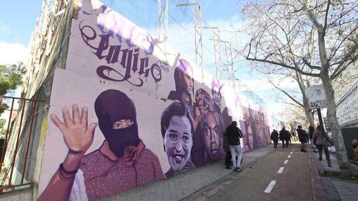 El mural feminista en el barrio de la Concepción.
