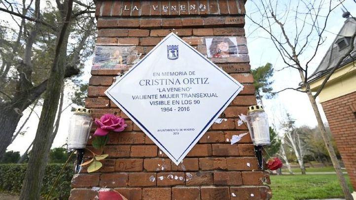 Placa en homenaje a Cristina Ortiz, La Veneno