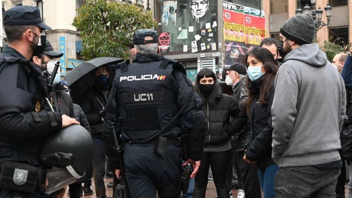 Concentración en Madrid en apoyo a Pablo Hasel