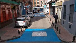 Peatonalización en el entorno de la plaza de Huarte de San Juan.