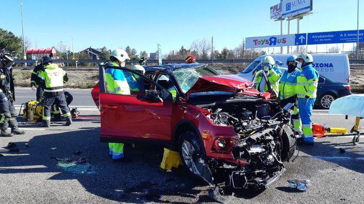 Herida tras chocar y dar varias vueltas de campana con su vehículo en la A-1