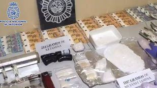 Droga incautada de los tres narcopisos de Tetuán