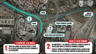 Cortes en la salida de Castellana dirección A-1 desde el lunes