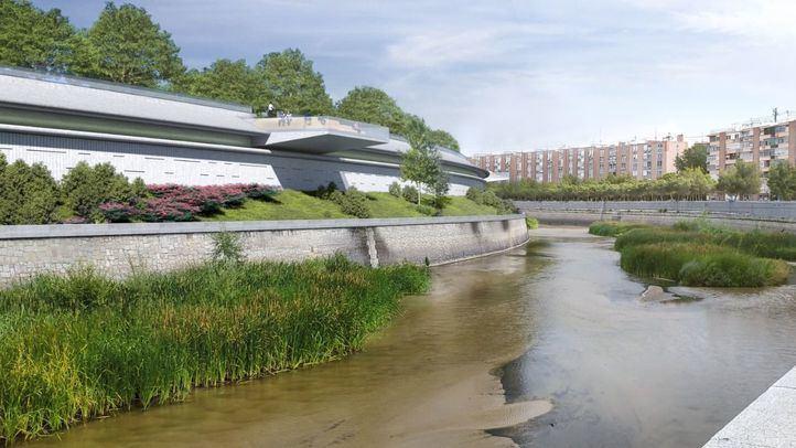 La estructura que cubrirá la M-30 en el tramo del Calderón se construirá después del verano
