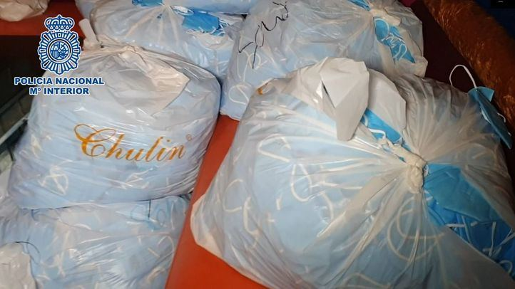 Requisados cuatro millones de mascarillas higiénicas falsas en un hotel de Leganés