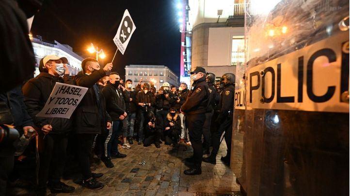 Disturbios en la concentración de Sol en apoyo a Pablo Hasél