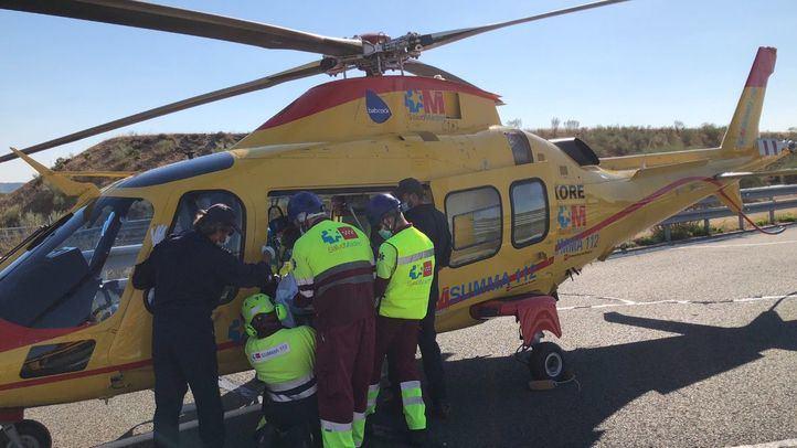 Heridos dos motoristas en un accidente de tráfico en Quijorna