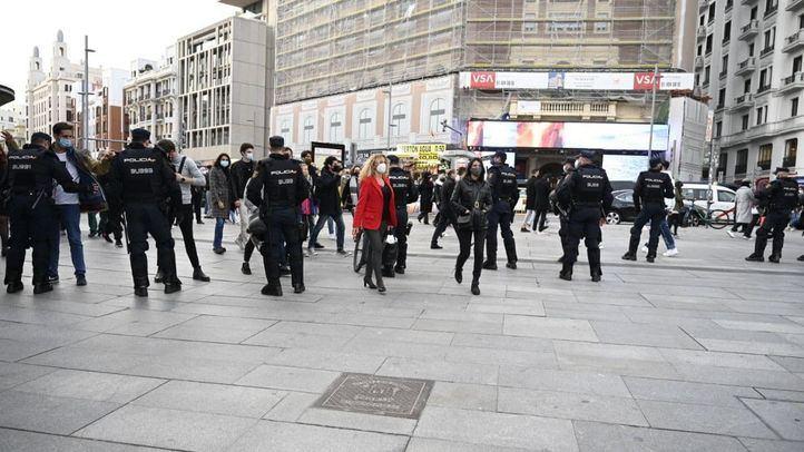 Madrid tiene 300 policías preparados para 'parar los pies' a los manifestantes a favor de Pablo Hasel