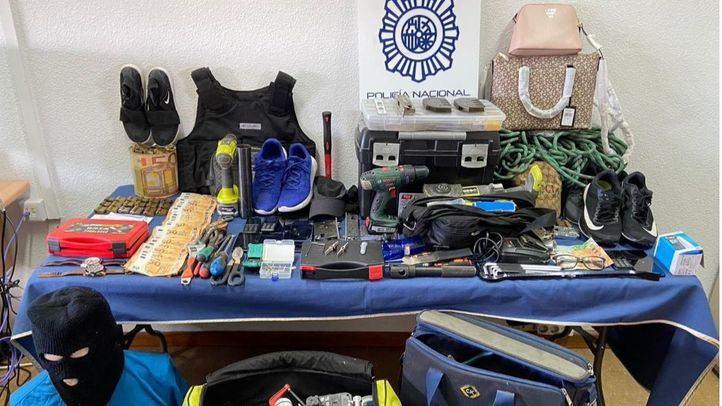 La Policía Nacional desarticula un grupo itinerante especializado en el robo con fuerza de locales comerciales