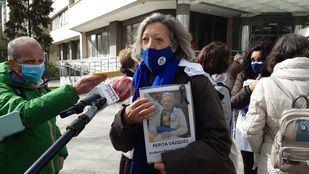 Concha Quirós, una de las familiares de víctimas de residencias en la Comunidad de Madrid