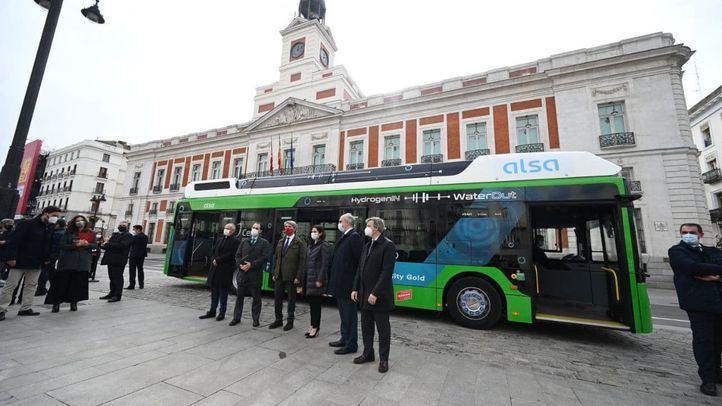 La Comunidad de Madrid y Alsa presenta el primer autobús de hidrógeno