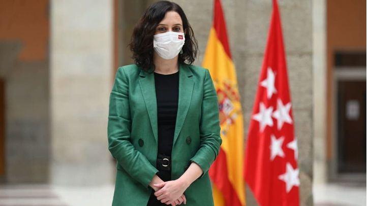 Isabel Díaz Ayuso, presidenta de la Comunidad de Madrid, durante la presentación del primer autos de hidrógeno que se pone en circulación, a modo de prueba, en España