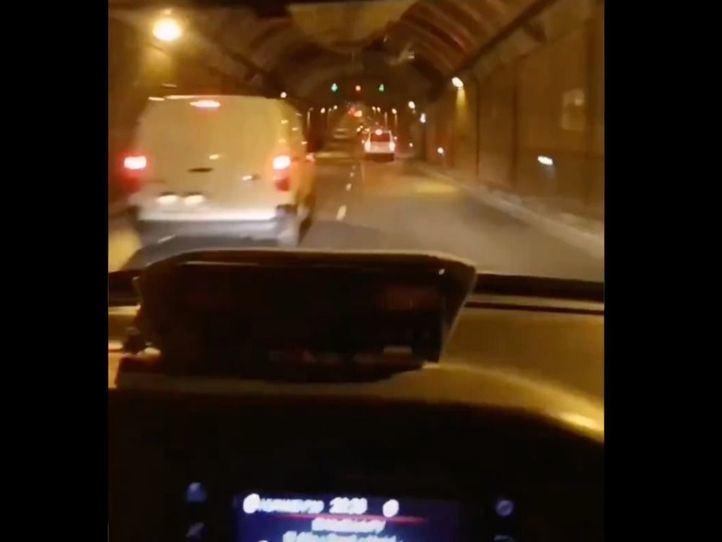 Detenido un taxista por conducción temeraria en los túneles de la M-30