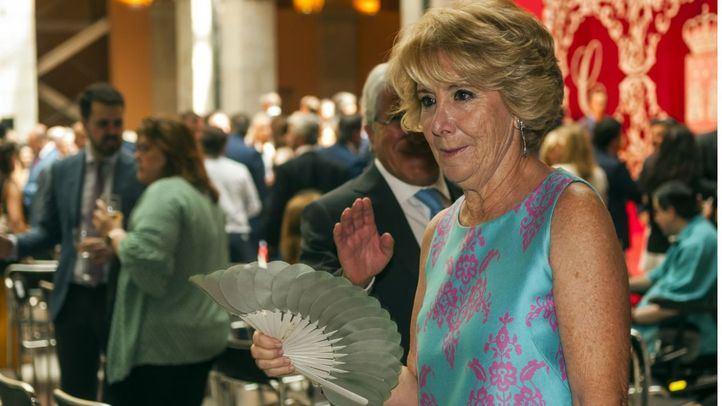 Esperanza Aguirre en la toma de posesión de Isabel Díaz Ayuso