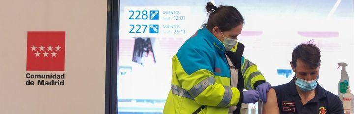 Comienzan las vacunaciones masivas en el Wanda Metropolitano