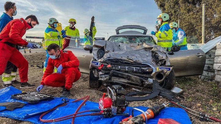 Fallece en accidente un joven de 18 años que iba de copiloto en un curso de formación en el Jarama