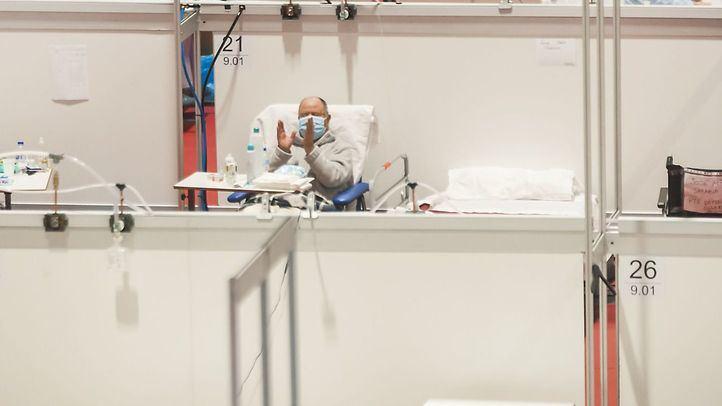 Foto de archivo de un paciente en el Hospital de campaña de Ifema
