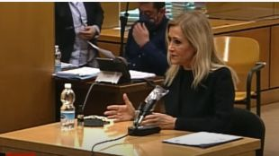 Cristina Cifuentes, durante el juicio por el Caso Máster