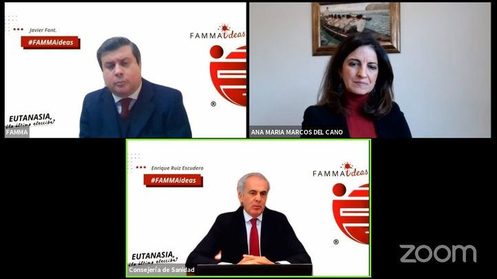 Escudero participa en un encuentro virtual sobre la eutanasia organizado por FAMMA-Cocemfe Madrid