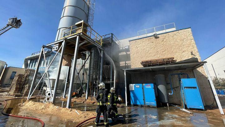 Extinguido sin heridos un incendio de una nave en Getafe
