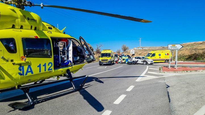 En estado grave un motorista de 45 años tras chocarse con un coche en Loeches
