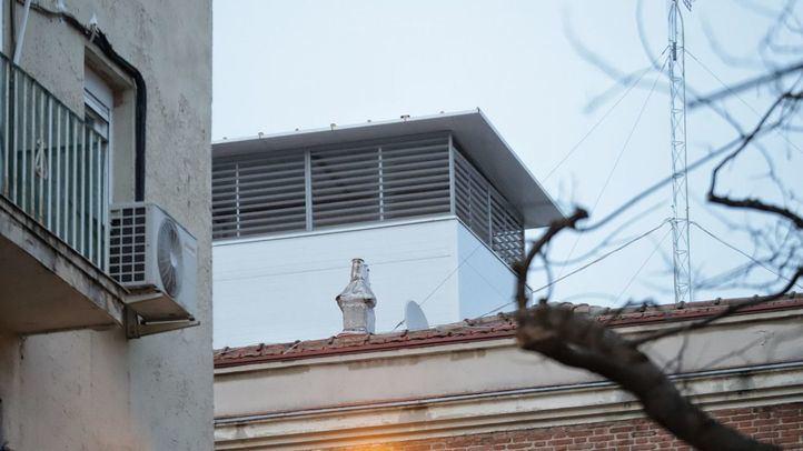 Chimenea de una Dark Kitchen en un edificio de Madrid
