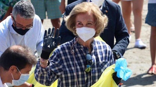 La reina Sofía, vacunada frente a la Covid en el centro de salud de El Pardo