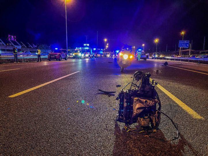 Cuatro heridos en una colisión de tres vehículos en la A-6 a la altura de Las Rozas