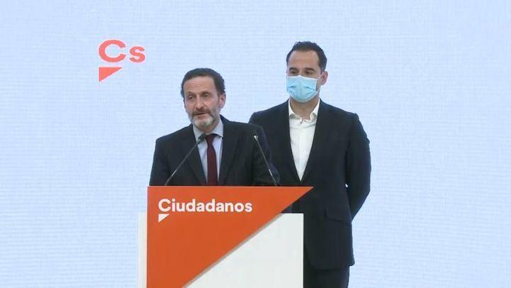 Ignacio Aguado propone a Edmundo Bal como candidato de Cs a la Comunidad