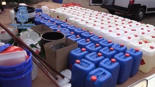 Desmantelado un laboratorio clandestino capaz de producir 650 kg de cocaína al mes