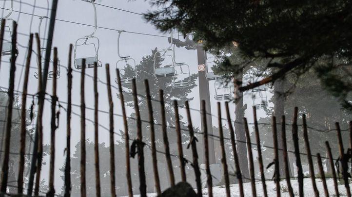 Telesilla en la estación de esquí de Navacerrada.