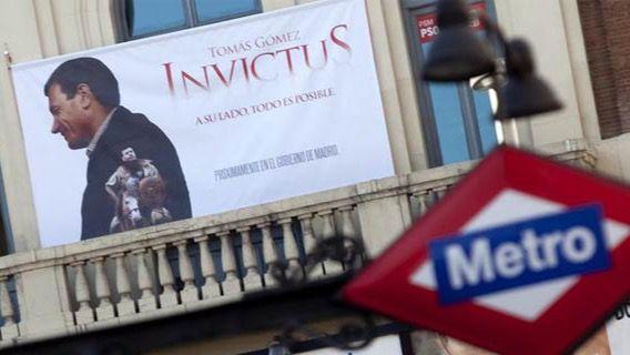 'El Invictus': el PSM ya colgó en Callao una pancarta de su candidato en las elecciones de 2011