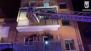 Heridas leves siete personas en un incendio en Villaverde