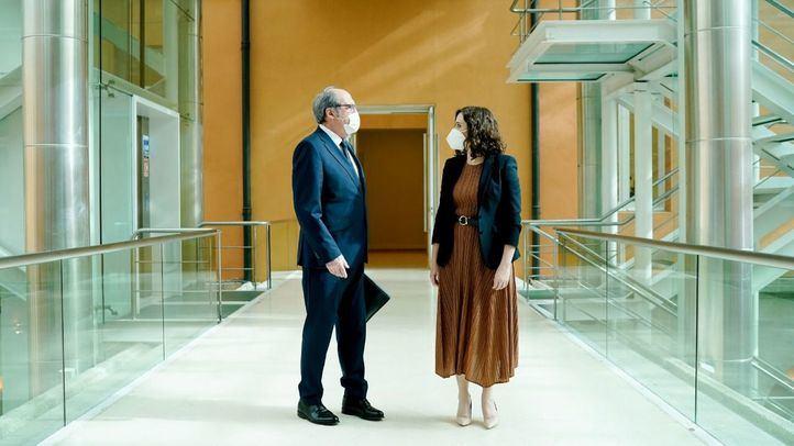 Ángel Gabilondo e Isabel Díaz Ayuso