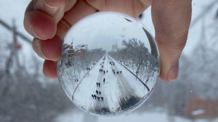 La imagen de la Castellana como pista de esquí gana el concurso de fotografía 'Madrid, Filomena a mi pesar'