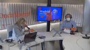 Nieves Herrero y Constantino Mediavilla en el estudio de Onda Madrid