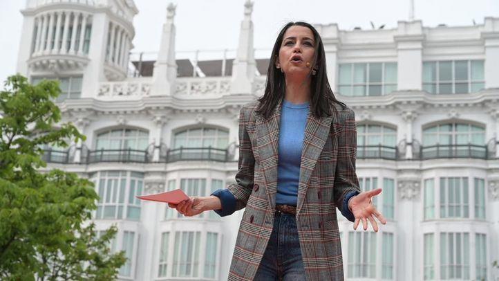 Inés Arrimadas, líder de Ciudadanos, durante la presentación de Edmundo Bal como candidato de Ciudadanos a la presidencia de la Comunidad de Madrid