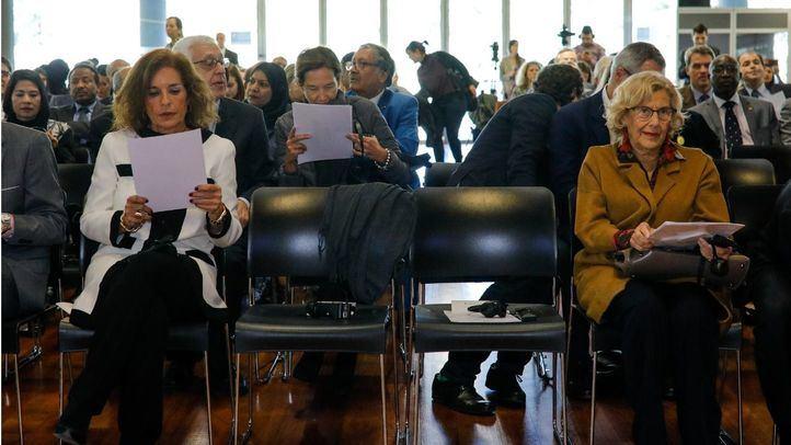 Las exalcaldesas de Madrid, Ana Botella y Manuela Carmena.