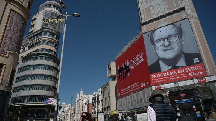 La Junta Electoral pide retirar de Callao el cartel de Gabilondo hasta la campaña