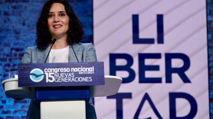 Isabel Díaz Ayuso, candidata del Partido Popular a la presidencia de la Comunidad de Madrid