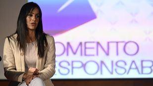 Begoña Villacís, vicealcaldesa de Madrid, durante la presentación de la campaña publicitaria 'Momento terraza, momento responsable'