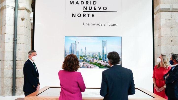 Presentación de la maqueta digital de Madrid Nuevo Norte en la Real Casa de Correos