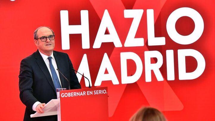 El candidato del PSOE a la Presidencia de la Comunidad de Madrid, Ángel Gabilondo, durante la presentación de la campaña, 'Hazlo por Madrid', en la sede de Ferraz