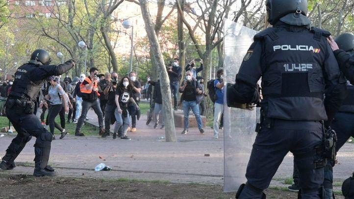 Ascienden a trece los detenidos por los altercados en el mitin de Vox en Vallecas