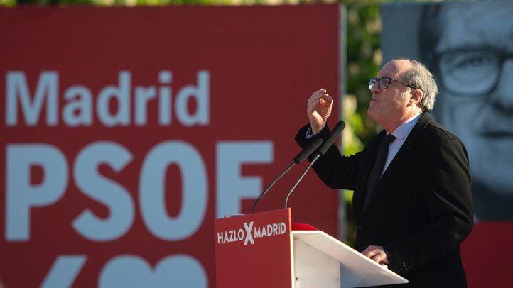 Ángel Gabilondo, candidato del PSOE a la presidencia de la Comunidad de Madrid, durante el acto de inicio de campaña