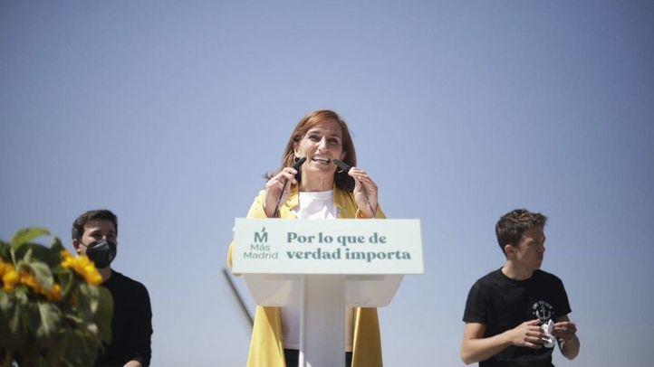 Mónica Garcia, candidata de Más Madrid a la presidencia de la Comunidad de Madrid durante el acto de arranque de campaña